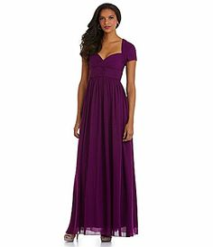 JS Collections Bridesmaid ShortSleeve Gown #Dillards Mob Dresses, Ball Dresses, Bridesmaid Dresses, Wedding Dresses, I Dress, Dress Outfits, Gowns With Sleeves, Groom Dress, Formal Wear