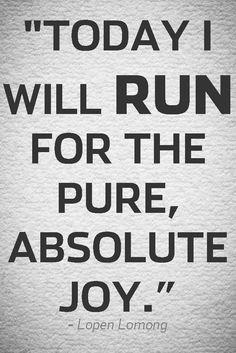 A GREAT reason to RUN...