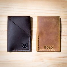 Cool Wallet | Men Leather Personalized Message Minimal Slim Wallet, Card Holder, Everyday Carry, Mens Gift Essentials, Hand Stitch
