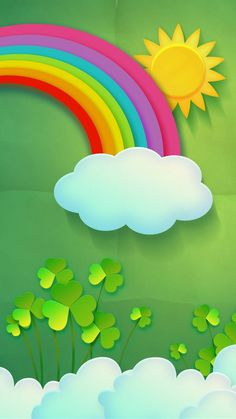 St Patricks Day Decorations Decor Ideas For Kids Bee Crafts, Diy Arts And Crafts, Preschool Crafts, Art Drawings For Kids, Art For Kids, Crafts For Kids, Ipad Background, Rainbow Background, Cute Wallpapers