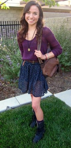 I love everything about this look.  via Looks on Campus: Kayla - California Polytechnic State University at San Luis Obispo