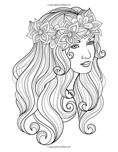 899 best Beautiful Women Coloring Pages for Adults images on ...