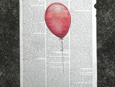 Vintage Dictionary Print - Red Balloon | Felt
