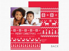 Merry Christmas Sweater Holiday Photo Card - Advanced Printing & Graphic Solutions