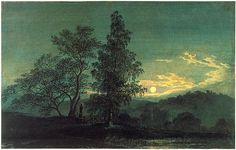 Caspar David Friedrich's 'Moonlit Landscape.'