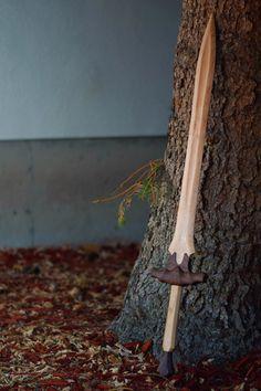 Solid Wood Sword by UneekWoodCreations on Etsy. My new Wood Elf sword.