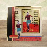 Hunkydory Crafts - Gentleman's Journey A4 Topper Set: He Shoots, He Scores!