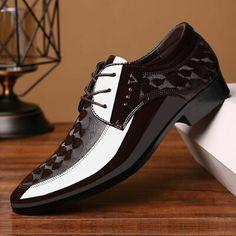 brown dress wedding shoes men formal italian patent leather shoes for men coiffeur elegant shoes men classic zapatos hombre bona Leather Men, Leather Shoes, Patent Leather, Leather Trainers, Groom Wedding Shoes, Dress Wedding, Formal Wedding, Oxfords, Men's Shoes