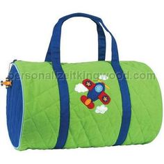 2e56985dccbe A Unique Gift Idea from ArtCraftGifts - Personalized stephen joseph kids  duffel bag- airplane So cute for our new little pilot! Personalize It