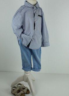 Kaufe meinen Artikel bei #Mamikreisel http://www.mamikreisel.de/kleidung-fur-jungs/langarm-hemden/31293864-obaibi-jacadi-festliches-hemd-karo-blau-gr80-18m