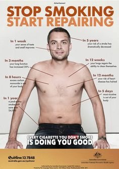 Quit smoking and see how your body repairs itself #BeAQuitter 2013 ill be smoke free!