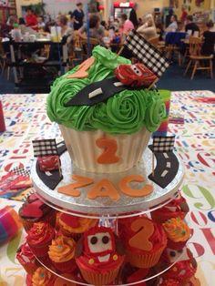 Cars Giant Cupcake  #cars #disney #lighteningmcqueen