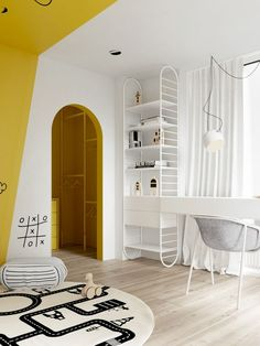 5 Cool Kids Rooms - La Petite The Coolest Kids Rooms We're loving these 5 cool kids rooms. These incredible kids rooms are sure to give you lots of great innovative ideas for decorating your own kid's space. Trendy Bedroom, Kids Bedroom, Bedroom Decor, Bedroom Ideas, Bedroom Lamps, Bedroom Lighting, Design Bedroom, Modern Bedroom, Minimalist Kids