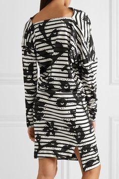 Vivienne Westwood Anglomania - Draped Printed Cotton-jersey Dress - Black - XS