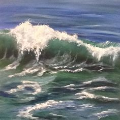 This is one of the best waves I have managed to capture, kinda sad it sold. 24x24