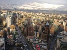 Santiago, Chile from up high.