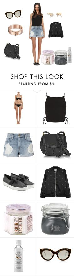"""""""Untitled #2599"""" by rine23 ❤ liked on Polyvore featuring Cosabella, Topshop, Frame, Marc Jacobs, Michael Kors, Zoe Karssen, Borghese, Sephora Collection and Victoria Beckham"""