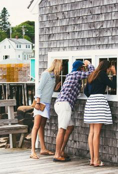 They never really go out of style, but this season stripes were everywhere, in multicolors that conjured moods preppy, sporty, even elegant. Prep Style, My Style, Preppy Southern, Southern Prep, Southern Shirt, Southern Marsh, Southern Tide, New England Prep, Tom Y Jerry