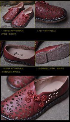 bcd5d2fc8f53 Aliexpress.com   Buy Artmu semi sweet handmade strap sandals empty thread  flower cowhide spring