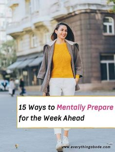Are you mentally prepared at the beginning of each and every week? It's obviously not easy to be consistently calm, collected, and mentally prepared for every single week out of the year. We live in a fast-paced world where stress seems limitless! But, if you follow these weekly mental preparation steps before the week begins... Read More » The post 15 Ways to Mentally Prepare for the Week Ahead appeared first on Everything Abode. Work Goals, Up To Something, Mentally Strong, Negative Thoughts, Positive Attitude, How To Fall Asleep, How To Introduce Yourself, Stress, How Are You Feeling