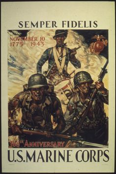 WWII poster, US Marine Corps, 1943. (US National Archives)