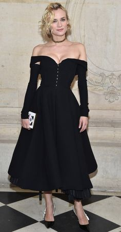 Diane Kruger in Dior attends the Christian Dior Haute Couture Spring Summer 2017 show. #bestdressed
