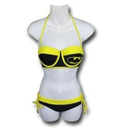 Batman Lace-Up Bustier Bikini