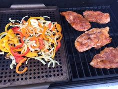 Grilled Chicken on the grill.
