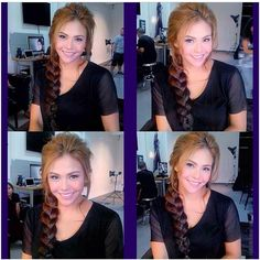 Gretchen Fullido wears #keirahairextensions restyled as #messyfishtail inspired by #frozen ! #hairstyle by our client love @iwaajinomoto !Thanks!