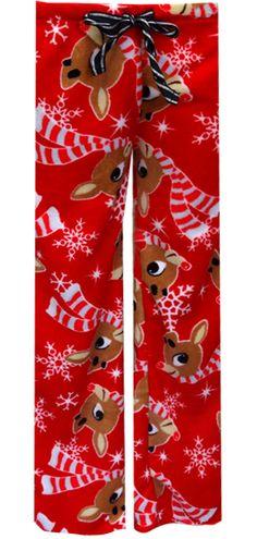 WebUndies.com Rudolph The Red-Nosed Reindeer Plush Lounge Pants