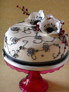 Midwinter wedding cake | by nice icing