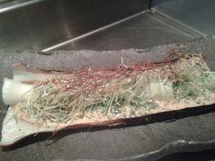 Roast leek dry miso