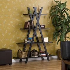 Black wall shelf display stand unit decorative storage shelves furniture home  #Upton