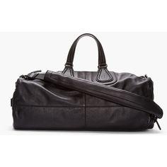 GIVENCHY Black Leather Nightingale Gym Bag