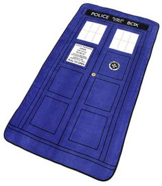 Tardis Throw Blanket - Another perfect way for the true Doctor Who fan to relax, wrapped up in their own Doctor Who Tardis Throw Blanket, keeping the cold out. Read about it at http://doctorwhoproducts.com/doctor-tardis-throw-blanket