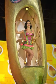 Katy Perry goes bananas for her performance on the 51st Annual GRAMMY Awards on Feb. 8, 2009