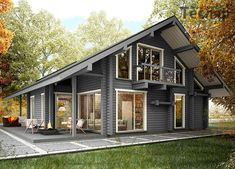 Want create site? Shed Homes, Cabin Homes, Log Homes, Small Rustic House, Small Modern Home, Amish House, Modern Architecture House, Facade House, My Dream Home