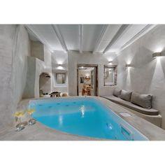 """The Marble Sun"" villa in Oia, Santorini by Lime Deco - Oia Santorini, Interior Design Companies, Entrance Doors, Luxury Villa, One Bedroom, Facade, Marble, Architecture, Outdoor Decor"