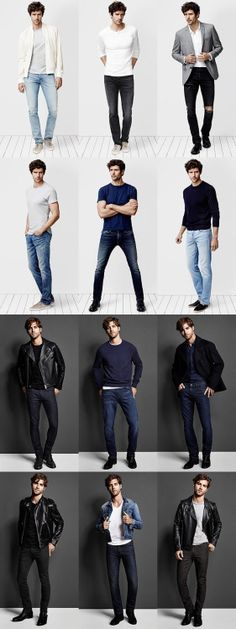 There's a reason jeans are a few of the most well-known pants on earth! They are the ultimate staple. And as a conventional casual wear, the most typical men's jeans are basic blue jeans that are appropriate for virtually every man on earth. Nudie Jeans, Men's Jeans, Jeans Shoes, Blue Jeans, Mode Masculine, Fashion Moda, Mens Fashion, Fashion Tips, Casual Outfits