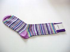 Men's Colorful Multi-Color Striped Socks One Size NWT Neiman Marcus