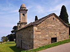 Corsica - Capicorsu - Cap Corse -  Brando Silgaggia Façade occidentale avec le clocher de l'église Santa Maria Assunta (Haute-Corse)    -   http://fr.wikipedia.org/wiki/Brando_(Haute-Corse)#/