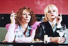 Jennifer Saunders and Joanna Lumley-Absolutely Fabulous British Humor, British Comedy, Divas, Thats 70 Show, Jennifer Saunders, Joanna Lumley, Ab Fab, Smoking, Bbc America