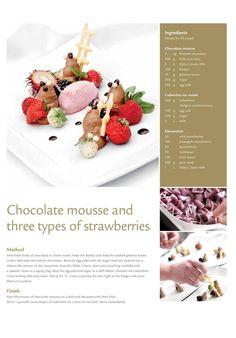 from Debic Horeca Magazine Spring-Summer 2011 Gourmet Desserts, Fancy Desserts, Dessert Recipes, Plated Desserts, Pastry Recipes, Baking Recipes, Eggless Recipes, Famous Recipe, Mini Foods