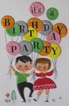 Vintage Hallmark Birthday Party Invitation