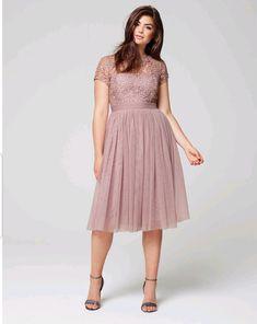 3e58cbfbb8a Little Mistress Crochet Mesh Special Occasion Mink Midi Dress Plus Size 24   fashion  clothing
