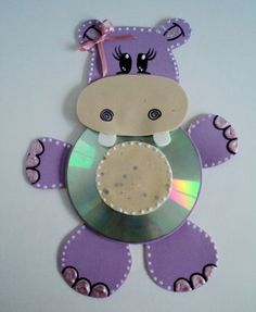 CD animal crafts for kids Crafts With Cds, Kids Crafts, Animal Crafts For Kids, Crafts For Seniors, Toddler Crafts, Animals For Kids, Easy Crafts, Art For Kids, Diy And Crafts