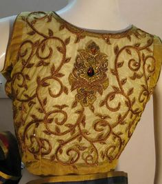 Net with Embroidered Blouse