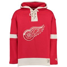 Old Time Hockey Detroit Red Wings Red Lacer Heavyweight Pullover Hoodie
