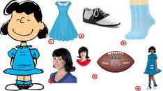 lucy van pelt - Google Search Lucy Charlie Brown Costume, Lucy Van Pelt Costume, Peanut Costume, Scary Decorations, Light Blue Dresses, Charlie Brown And Snoopy, A Good Man, Halloween Costumes, Cosplay