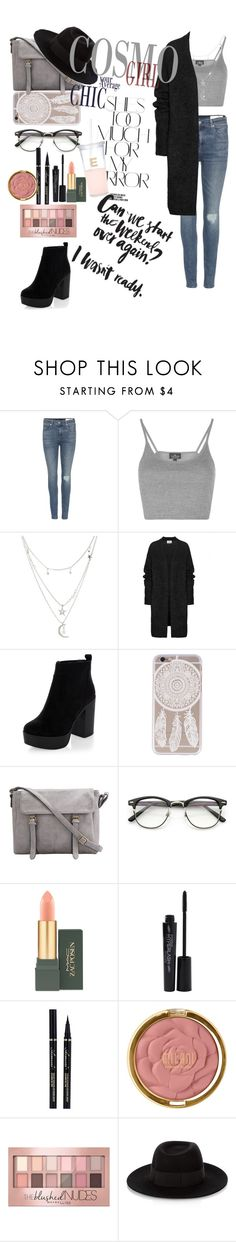 """""""Untitled #15"""" by cata13mota ❤ liked on Polyvore featuring Rika, rag & bone, Topshop, Charlotte Russe, Acne Studios, New Look, MAC Cosmetics, Smashbox, Milani and Maybelline"""